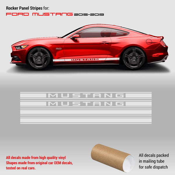 Rocker Panel Side stripes for Ford Mustang 2015 - 2019