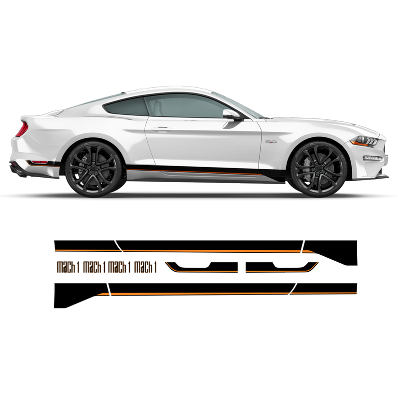 MACH1 Graphic Decals Set for Ford Mustang 2018 - 2020