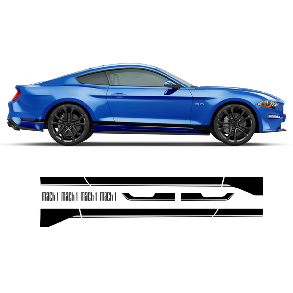 MACH1 Graphic Decal Set for Ford Mustang 2018 - 2020