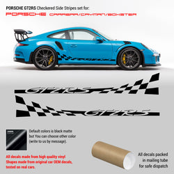 Porsche Checkered GT2 RS Side Graphic Design for Carrera