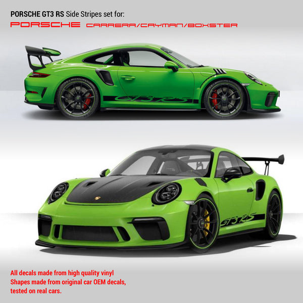 Porsche GT3 RS Racing side stripes