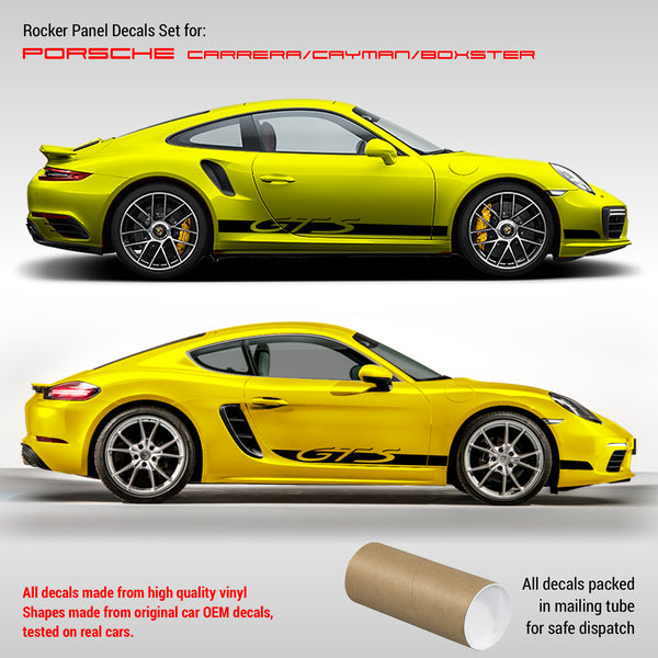 Porsche Carrera / Cayman / Boxster GTS Side Stripes