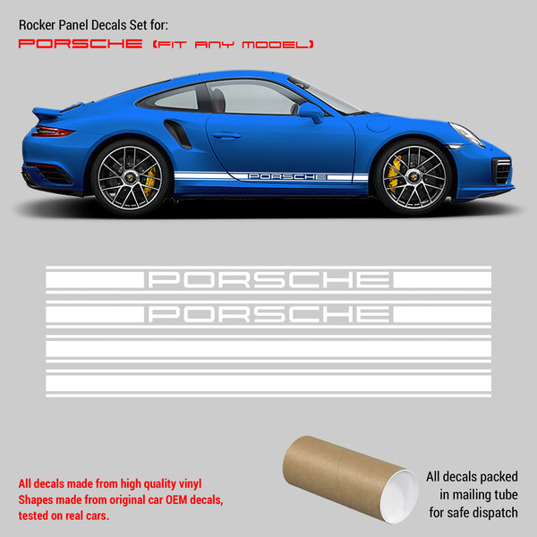 Porsche Rocker Panel decal set 1 color