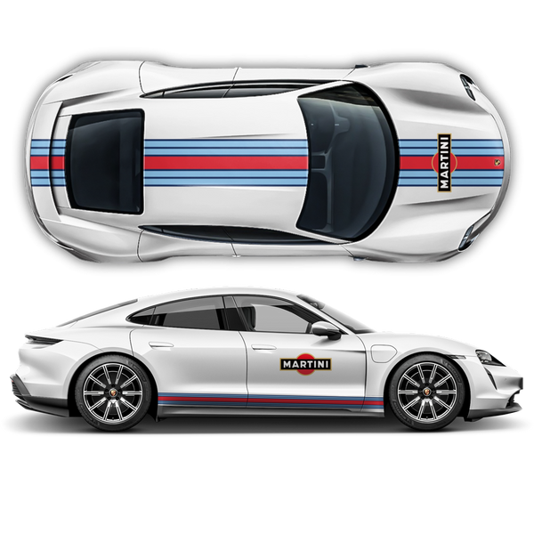 19' Martini Racing stripes for Porsche Taycan