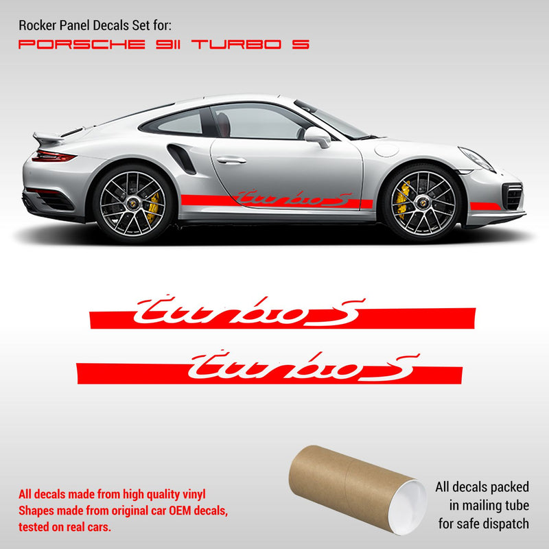 Porsche Carrera Racing Side Stripes Turbo