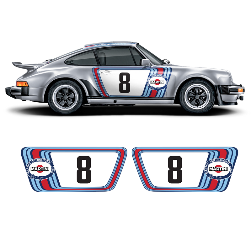 Classic Martini Graphic Set, for Porsche Carrera 911 (930) 1975 - 1989