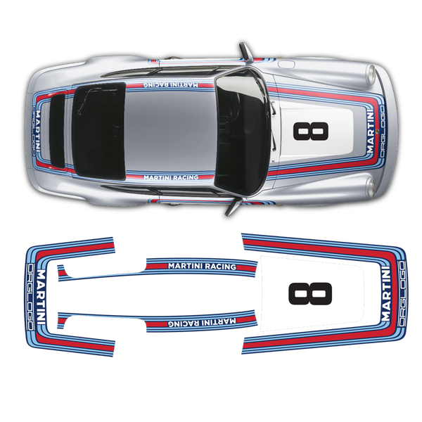 Classic Martini Graphic Set for Porsche Carrera 911 (930) 1975 - 1989
