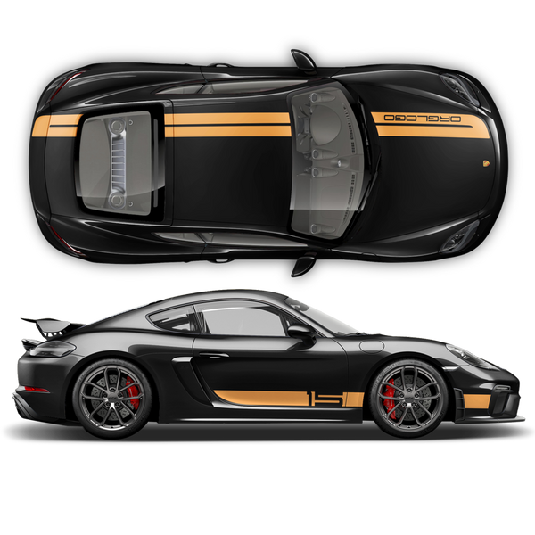 Sport Cup Edition Racing Stripes Set for Cayman / Boxster 2005 - 2020 black