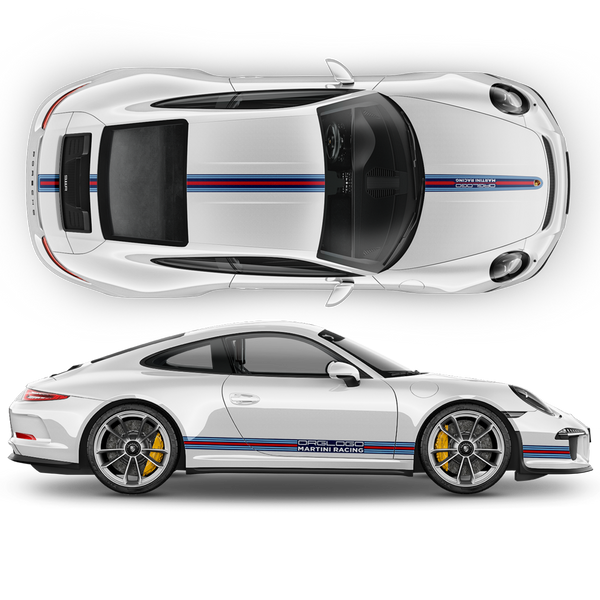 Martini THIN Racing stripes LOGO for Porsche Carrera / Cayman / Boxster