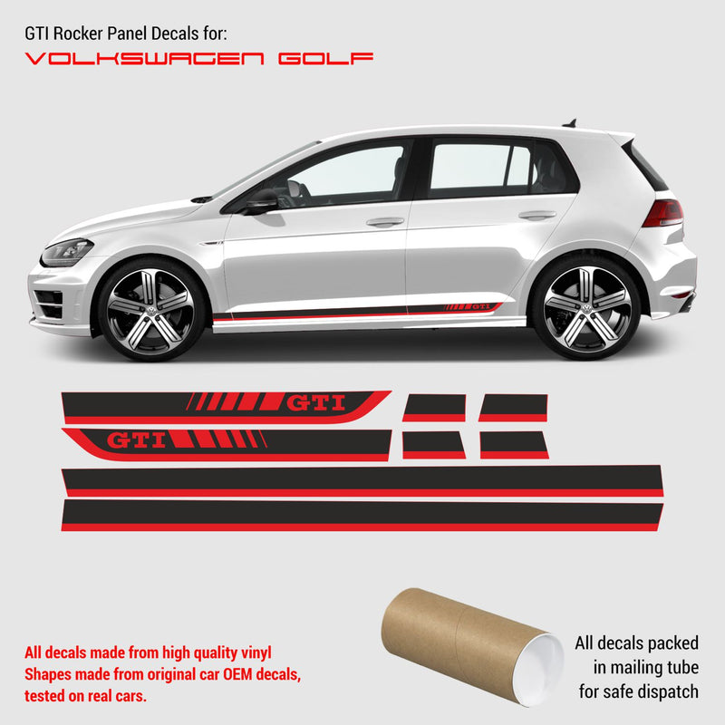 VW Golf 7 GTI rocker panel decals 2012 - 2019