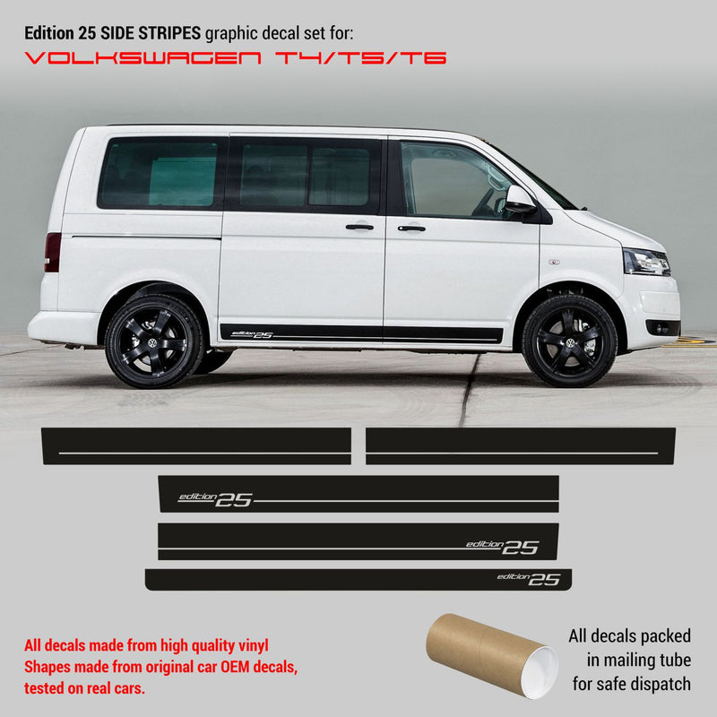 Volkswagen Multivan T4/T5/T6 EDITION 25 side stripes