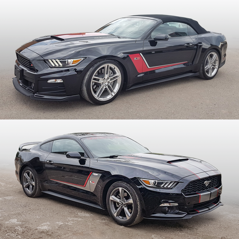 Ford Mustang 2015 - 2017 ROUSH Side Stripes Graphic Decals kit