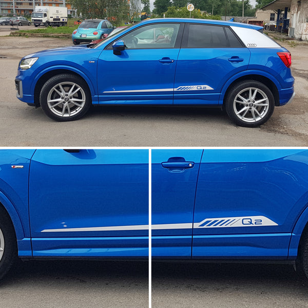 AUDI Q2 Sport Style Racing Stripes - WRAPPSHOP.EU | Car Decals, Stripes, Vinyls
