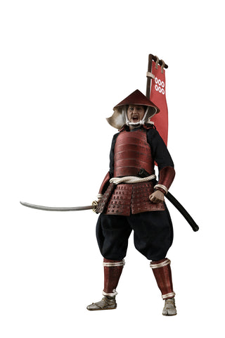 PRE-ORDER - Palm Empire Japanese Samurai Ashigaru (Red Armor) 1/12 Scale Figure