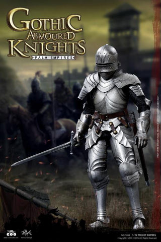 In Stock 11/5 - Palm Empires Gothic Armored Knight 1/12 Scale Figure