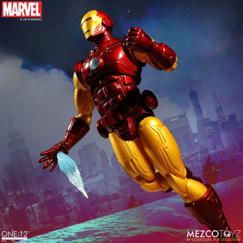 FREE SHIPPING! Mezco One:12 Collective Iron Man 6-Inch Figure