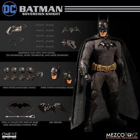 In Stock! Mezco One:12 Batman: Sovereign Knight 6-Inch Figure