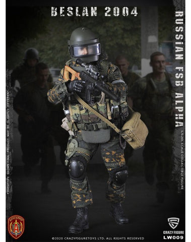 Pre-Order - Crazy Figure LW009 1/12 Scale Russian Alpha Special Forces Sniper