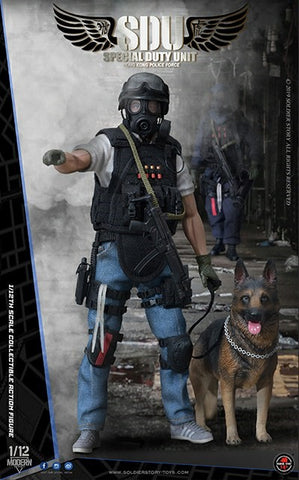 Pre-Order - Hong Kong Police Force Special Duty Unit Canine Handler 1/12 Scale Figure