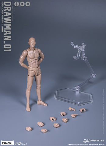 "DAMTOYS 1/12 ""DRAWMAN"" DPS01 Action Figure"