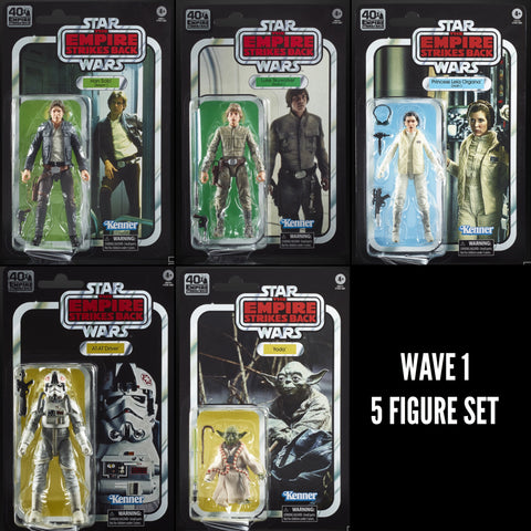 (non mint) Star Wars Black Series 40th ESB Wave 1 (5 Figure Set)