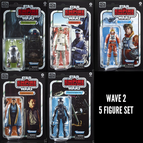 (non mint) Star Wars Black Series 40th ESB Wave 2 (5 Figure Set)