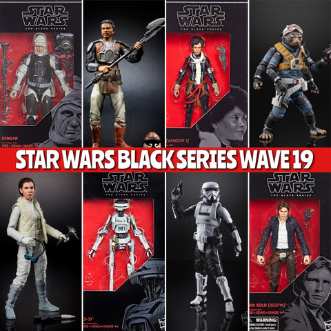 In Stock! Star Wars Black Series Wave 19 (8 figure set)