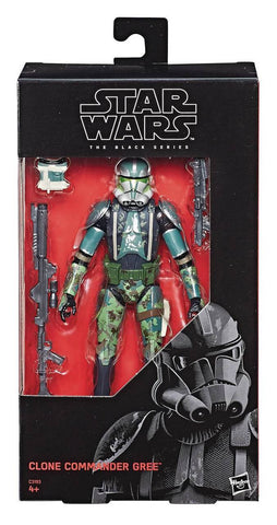 (standard grade/ not mint box condition) Star Wars Black Series Exclusive Clone Commander Gree 6-Inch Figure