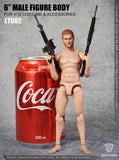 Pre-Order - Crazy Figure LT002 1/12 Scale Multi Joint Movable Figure (For heads with neck attached)