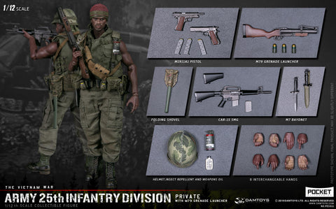 Pre-Order - Damtoys PES011 1/12 25th Infantry Division GRENADE LAUNCHER 6-Inch Figure