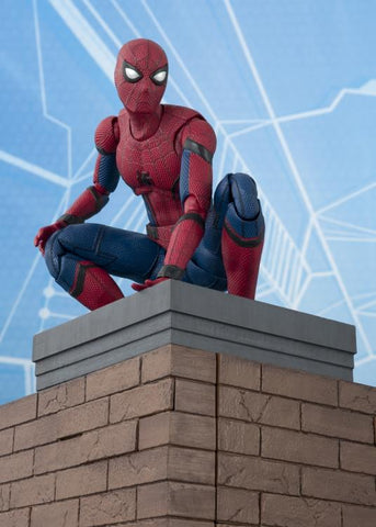 IN STOCK! FREE SHIPPING - S.H.Figuarts SpiderMan Techsuit Figure & Wall Set