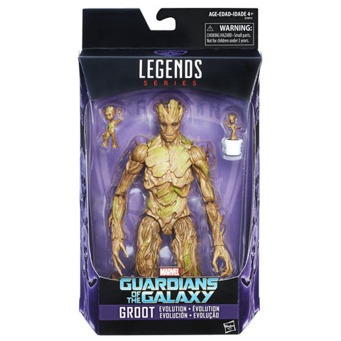 Marvel Legends Exclusive Groot Evolution Action Figures Set