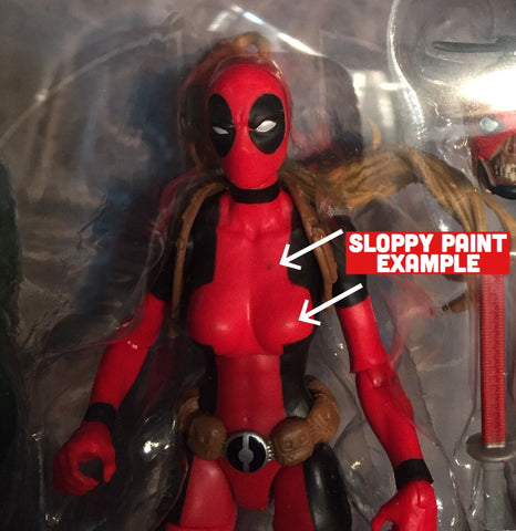Marvel Sale! (Sloppy paintjob) Legends Series 6-inch LADY Deadpool Figure