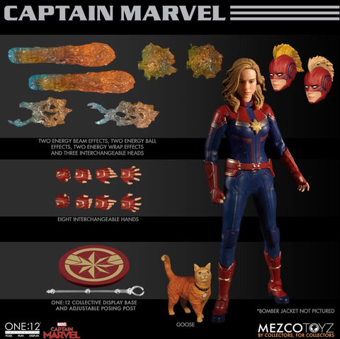 Shipping Soon! Mezco One:12 Captain Marvel 6-Inch Figure
