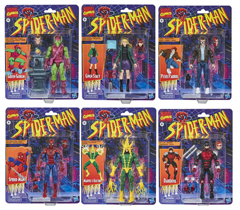 Pre-Order - Marvel Legends Retro Spiderman Wave 1