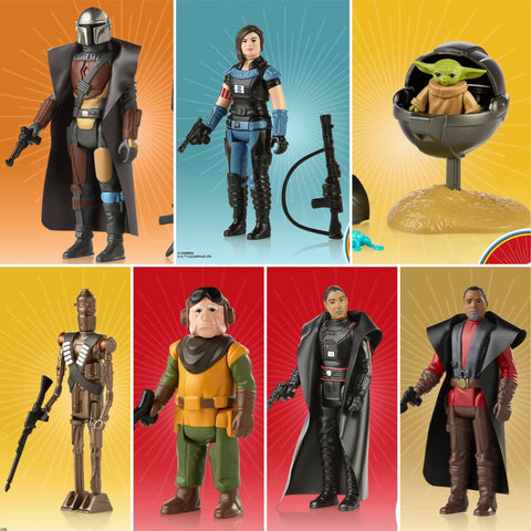"Pre-Order - Star Wars Mandalorian Retro 3.75"" (7 Figure Set)"