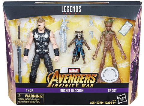 Marvel Legends Infinity War 3-Pack (Thor, Groot, Rocket)