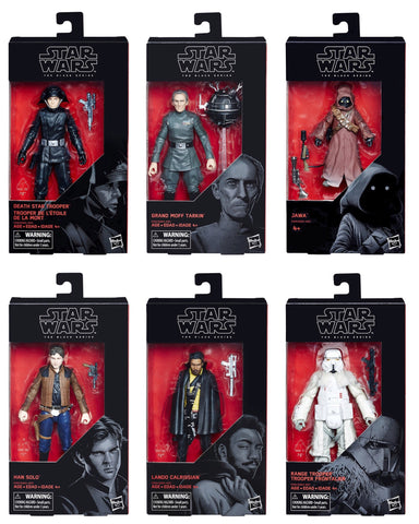 "Free Shipping - Black Series 6"" Solo Wave (6 Figure Set)"