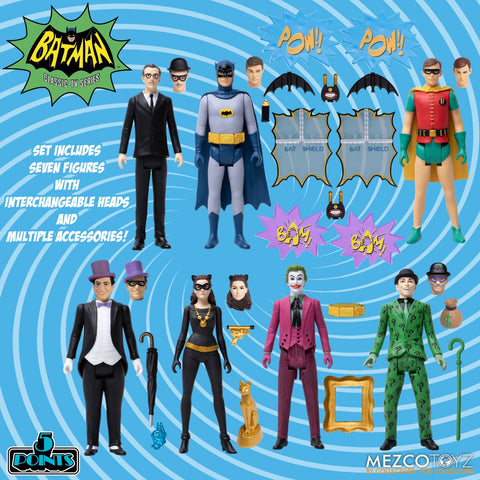Pre-Order - Mezco Batman (1966): Deluxe Boxed Set