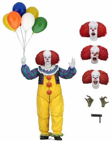 "In Stock! IT - Ultimate Pennywise (1990 version) 7"" scale action figure"