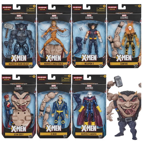 FREE SHIPPING! Marvel Legends X-Men 7 Figure Set (Sugarman BAF wave)