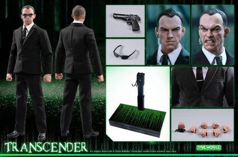 Toy Works 1/6 Scale Agent Smith Transcender Matrix Figure