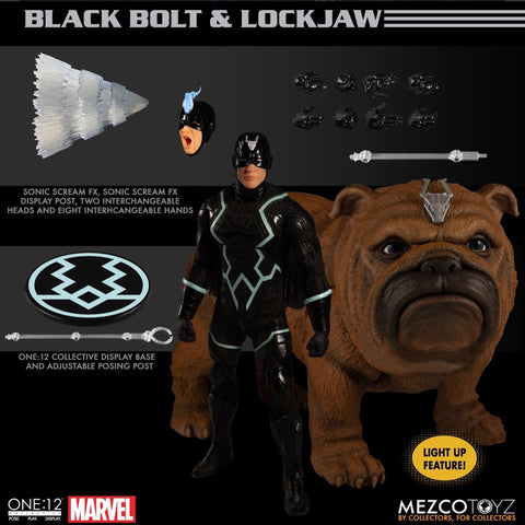 Pre-Order - Mezco One:12 Black Bolt and Lockjaw