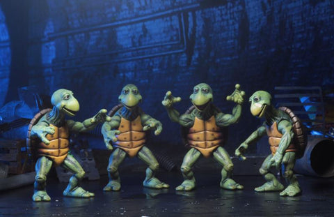 PRE-ORDER - Teenage Mutant Ninja Turtles (1990 Movie) - 1/4 Scale Action Figures - Baby Turtles Set