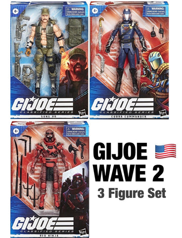 Pre-Order - G.I. Joe Classified Series 6-Inch Wave 2 (3 Figure Set)