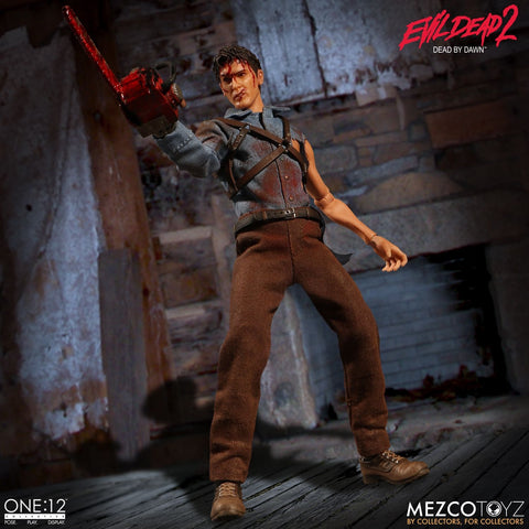 FREE SHIPPING! Mezco One:12 Collective Evil Dead 2 Ash