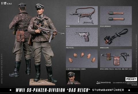 DAMTOYS 1/12 WW2 German Panzer Division Major