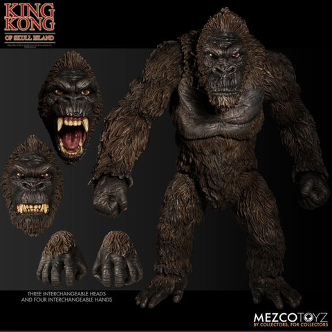 "In Stock! (w/ FREE SHIPPING) Mezco 18"" King Kong of Skull Island figure"
