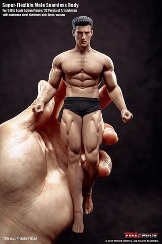 (Bulkier body) TBLeague 1/12th Scale Male Seamless Body TM02A