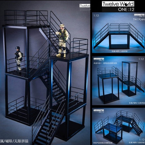 TWTOYS TW1904 A+B Combo Set - 1/12 scale Steel Stairs & Platforms